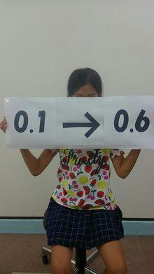 Mさん小学3年生視力0.1⇒0.6